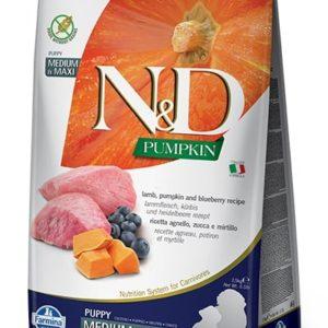 N&D dog GF PUMPKIN PUPPY M/L lamb/blueberry - 12kg