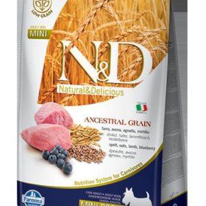 N&D dog LG ADULT MINI LAMB/BLUEBERRY - 7kg