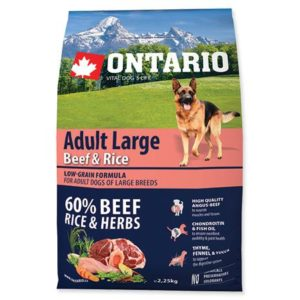 ONTARIO dog  ADULT LARGE beef and rice - 12kg