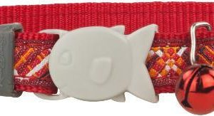 Obojek RD  cat FLANNO red - 1