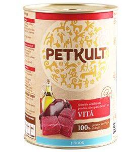 PETKULT dog konz.  JUNIOR - hovězí 800g (5+1ks)