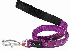 Vodítko RD PAWPRINTS purple - 2