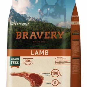 BRAVERY dog ADULT large/medium LAMB - 2 x 12kg