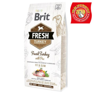 BRIT FRESH ADULT FIT and SLIM turkey/pea - 12kg