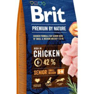 BRIT dog Premium By Nature SENIOR S+M - 2 x 15 kg