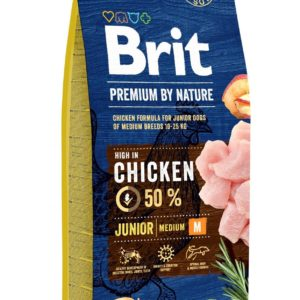 BRIT dog Premium by Nature JUNIOR M - 15kg