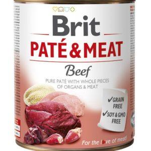 BRIT konzerva PATE and MEAT 800g - KRŮTA