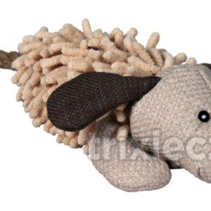 HRAČKA  plyšový PES s ocasem z lana - 30cm