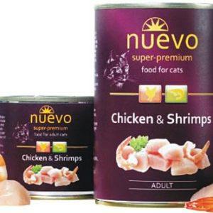 NUEVO cat konz.  ADULT kuře/krevety - 400g