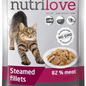 NUTRILOVE cat kaps.  ADULT - želé 85g - HOVĚZÍ