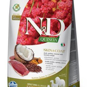 N&D dog GF QUINOA skin/coat DUCK/COCONUT - 7kg