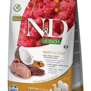 N&D dog GF QUINOA skin/coat QUAIL/COCONUT - 7kg