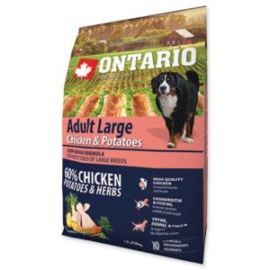 ONTARIO dog ADULT LARGE chicken - 12kg