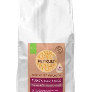 PETKULT dog SEMIMOIST/MINI ADULT turkey - 5kg