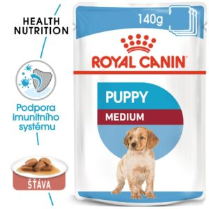 Royal Canin Medium Puppy - kapsička pro střední štěňata - 10x140g