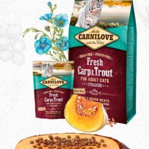 CARNILOVE cat   FRESH STERILISED CARP/trout - 2 x 6kg