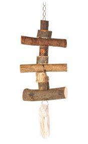 HRAČKA ptáci dřevěná pro andulky  - 40cm