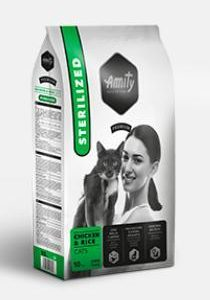 AMITY premium cat STERILISED chicken/rice - 10kg