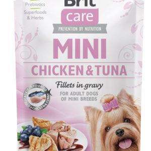 BRIT CARE dog MINI kapsa  ADULT chicken/tuna - 85g