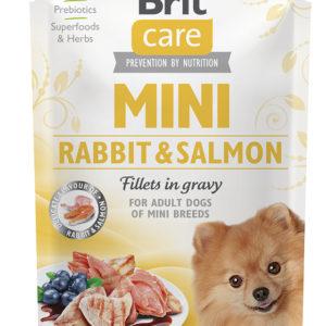 BRIT CARE dog  MINI kapsa ADULT  rabbit/salmon - 85g