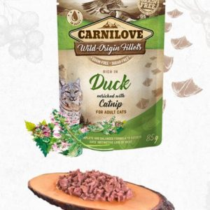CARNILOVE cat  kapsa  ADULT  DUCK/catnip - 85g