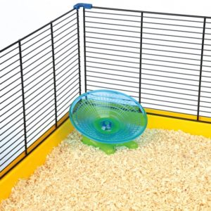 HRAČKA hlod. KOLOTOČ létající talíř myš/křeček - 17cm