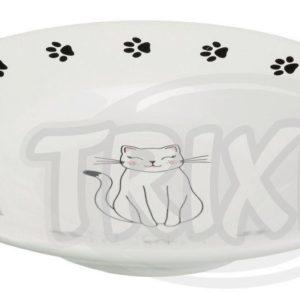 MISKA keramický talířek pro krátkonosé kočky - 0