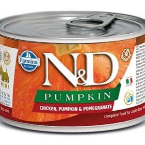 N&D dog GF PUMPKIN konz. ADULT MINI chicken/pomegranate - 140g