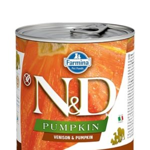 N&D dog GF PUMPKIN konz. ADULT venison/pumpkin - 285g