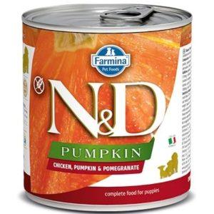 N&D dog GF PUMPKIN konz. PUPPY chicken/pomegranate - 285g