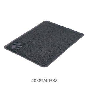 PŘEDLOŽKA s tlapkou PVC k WC šedá (trixie) - 40x60cm