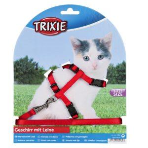 Postroj (trixie) CAT pro koťata s vodítkem  - 8mm/19-31cm/1