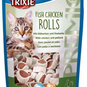 Cat pochoutka FISH CHICKEN ROLLS (trixie) - 50g