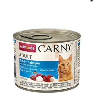 ANIMONDA cat konzerva  CARNY hovězí/treska/petržel - 400g