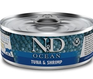 N&D cat  konz. OCEAN tuna/SHRIMP - 12 x 80g