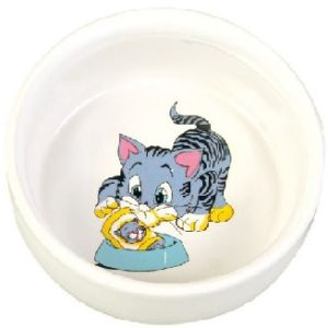 MISKA keramická MALOVANÁ kočka/motiv (trixie) - 0