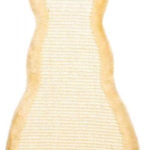 Škrabadlo závěsné tvar Kočička Béžové - 35x69cm