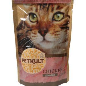 PETKULT cat kapsa KUŘECÍ  - 100g (8+2 gratis)