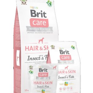 BRIT CARE dog    HAIR & skin  INSECT&fish  - 12kg